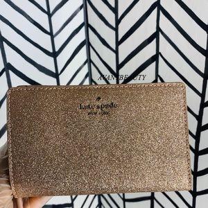 🔸 Kate spade medium bifold wallet rose gold new
